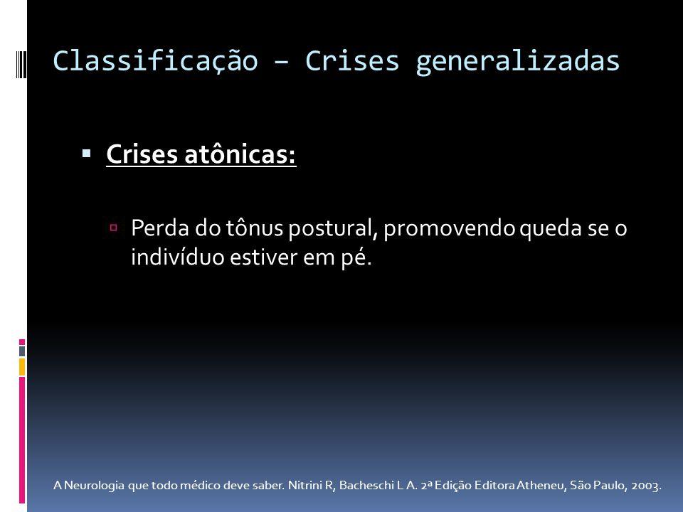 Classificação – Crises generalizadas