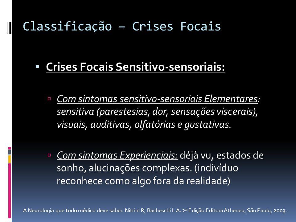 Classificação – Crises Focais