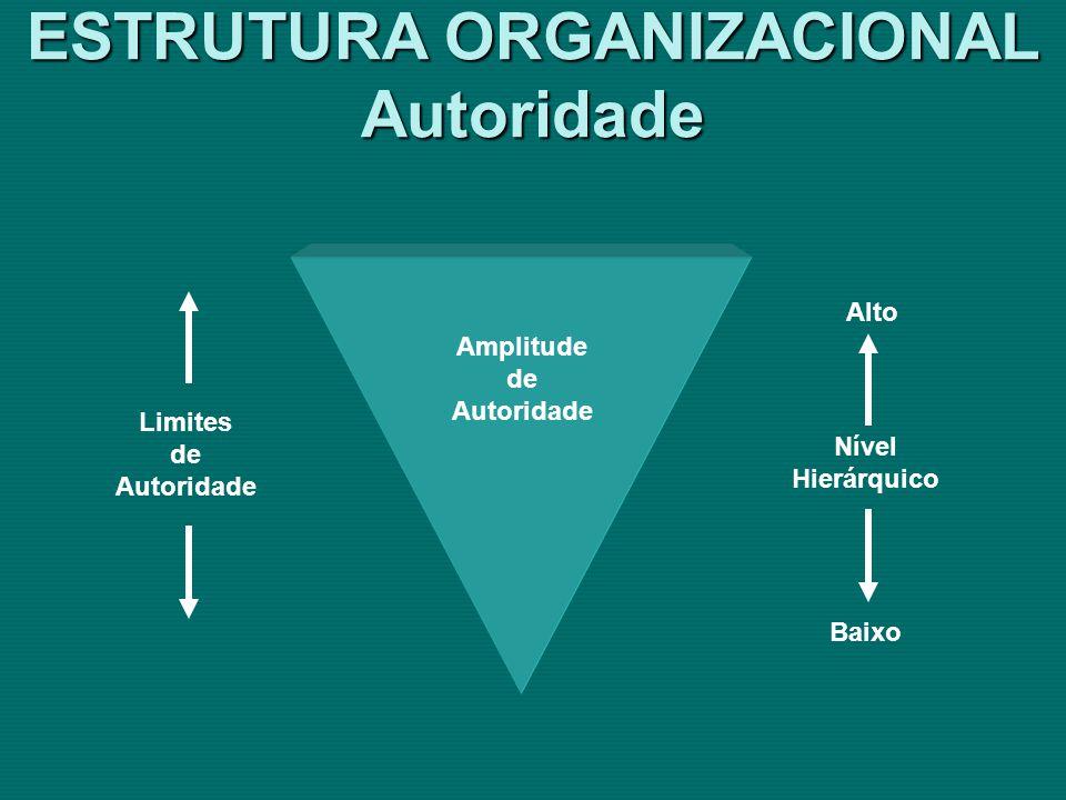 ESTRUTURA ORGANIZACIONAL Autoridade