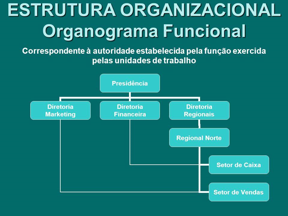 ESTRUTURA ORGANIZACIONAL Organograma Funcional
