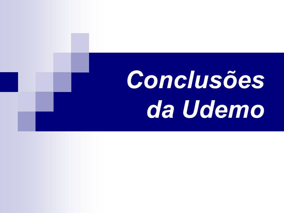 Conclusões da Udemo