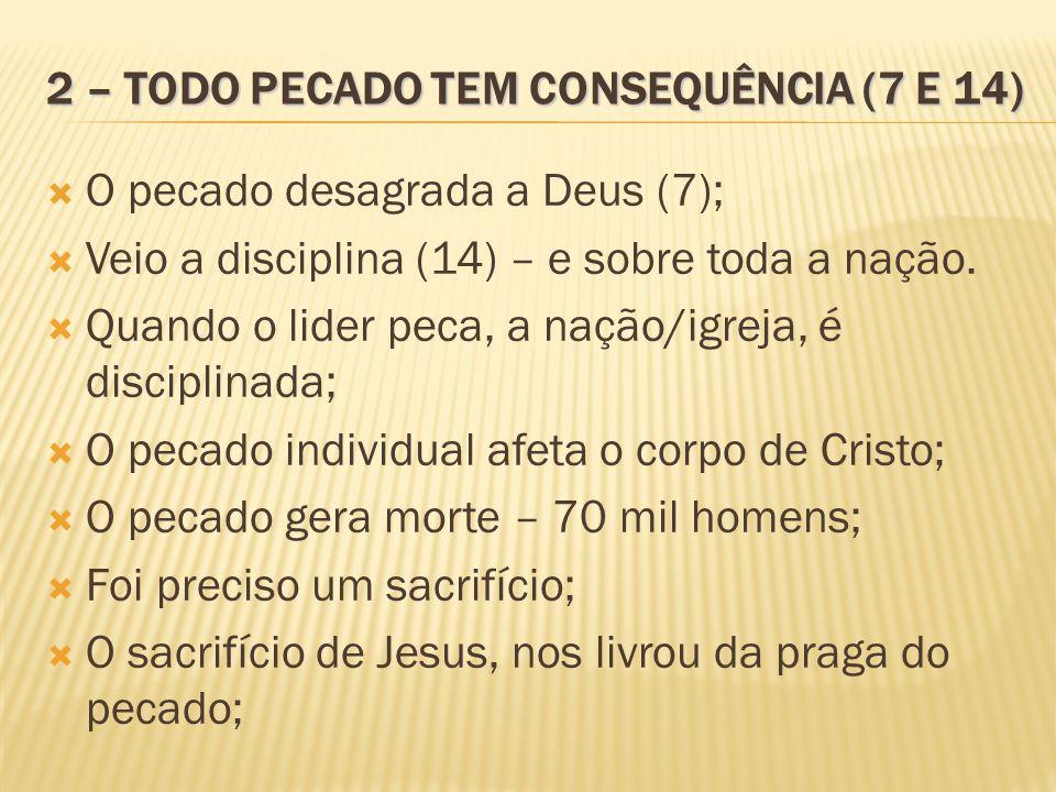 2 – TODO PECADO TEM CONSEQUÊNCIA (7 E 14)