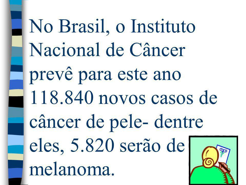 No Brasil, o Instituto Nacional de Câncer prevê para este ano 118