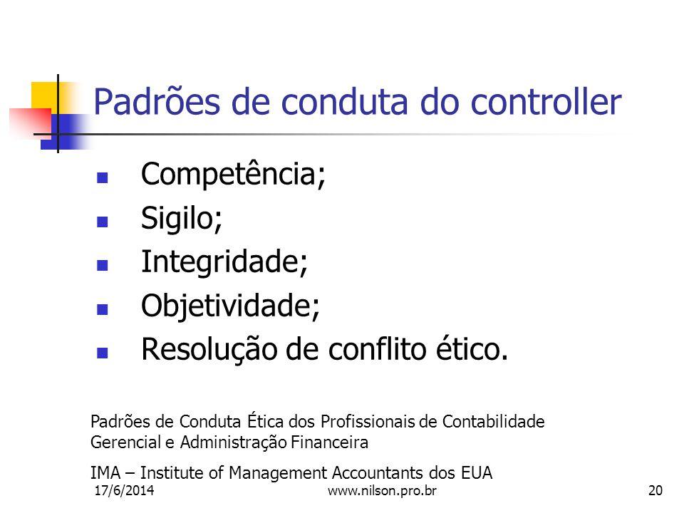 Padrões de conduta do controller
