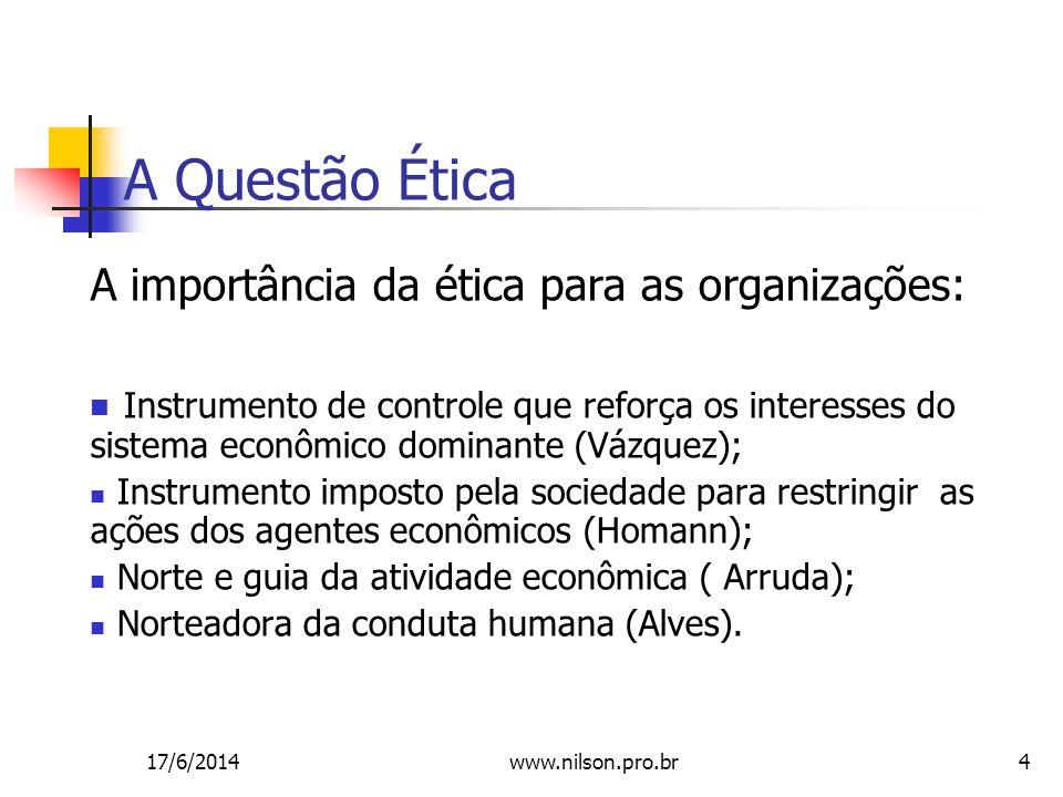 A Questão Ética A importância da ética para as organizações: