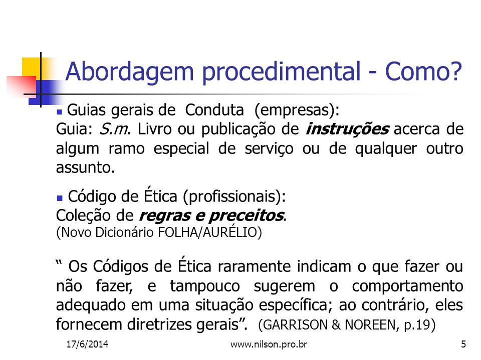 Abordagem procedimental - Como