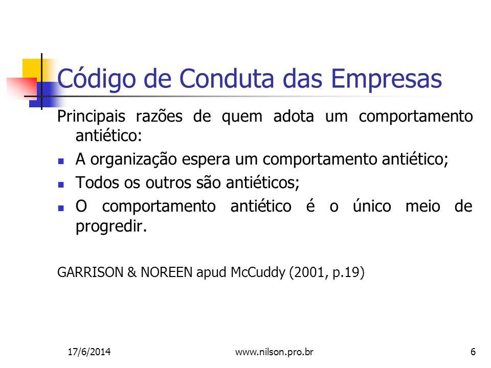 Código de Conduta das Empresas