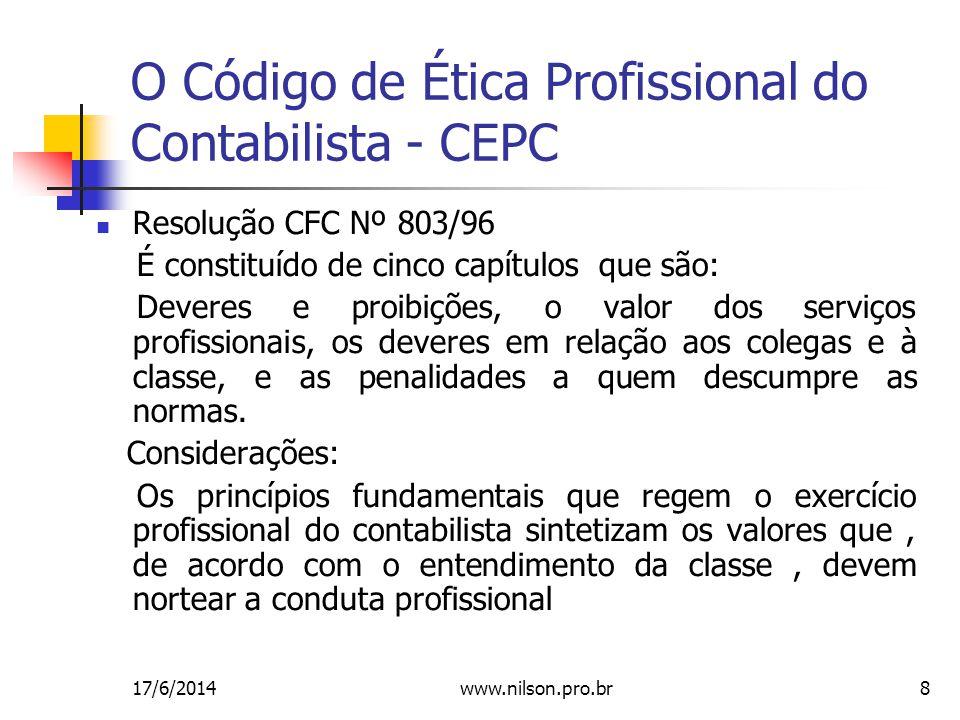 O Código de Ética Profissional do Contabilista - CEPC