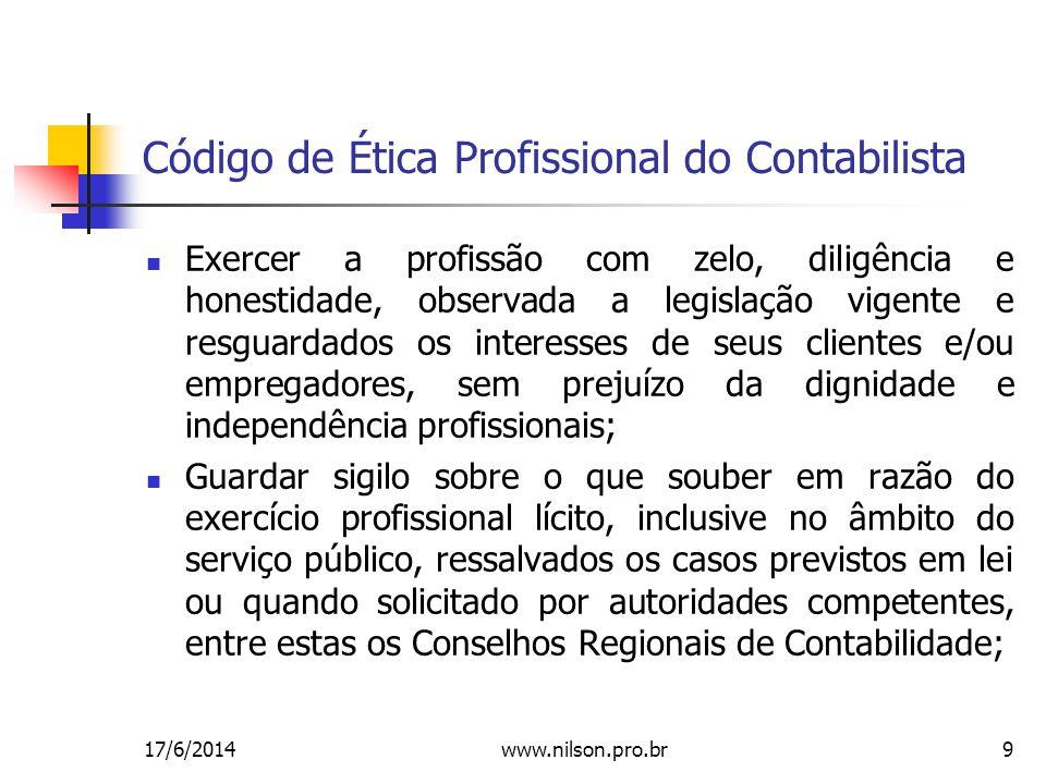 Código de Ética Profissional do Contabilista