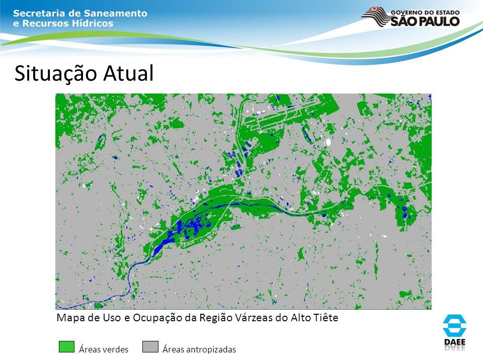 Situação Atual Mapa de Uso e Ocupação da Região Várzeas do Alto Tiête