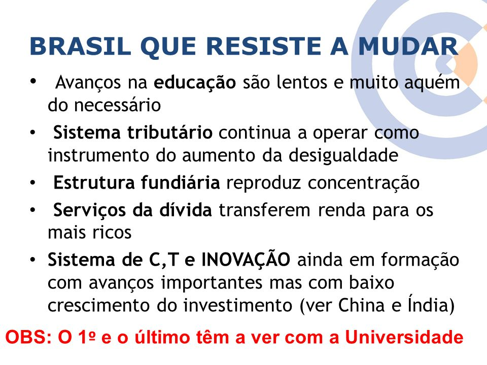BRASIL QUE RESISTE A MUDAR