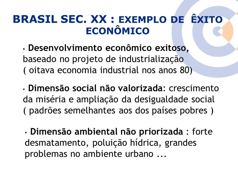 BRASIL SEC. XX : EXEMPLO DE ÊXITO ECONÔMICO