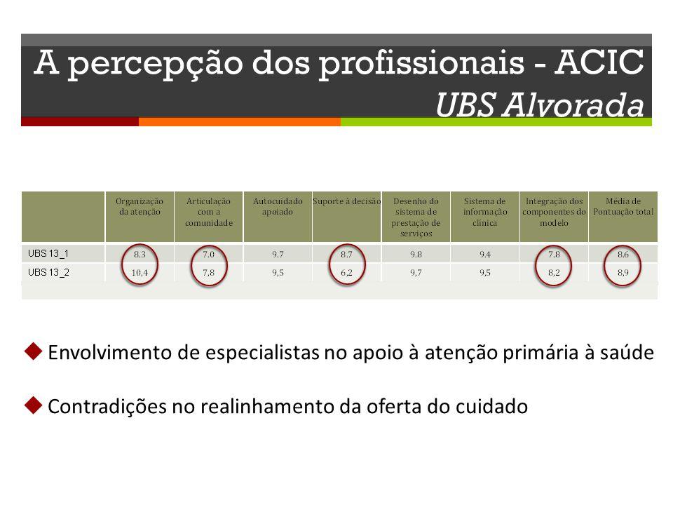 A percepção dos profissionais - ACIC UBS Alvorada