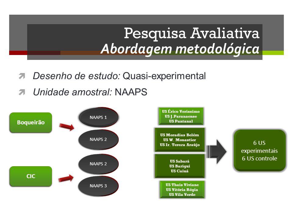 Pesquisa Avaliativa Abordagem metodológica