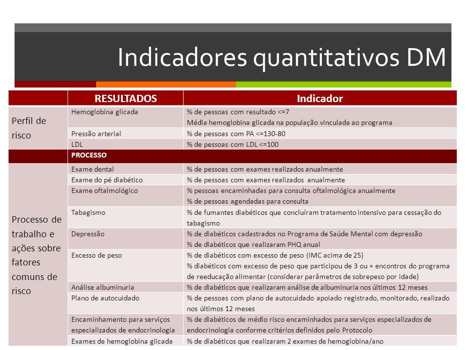 Indicadores quantitativos DM