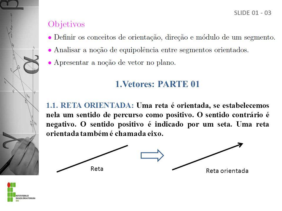 SLIDE 01 - 03 1.Vetores: PARTE 01.