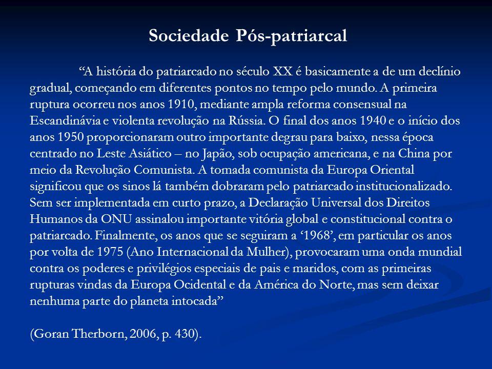 Sociedade Pós-patriarcal