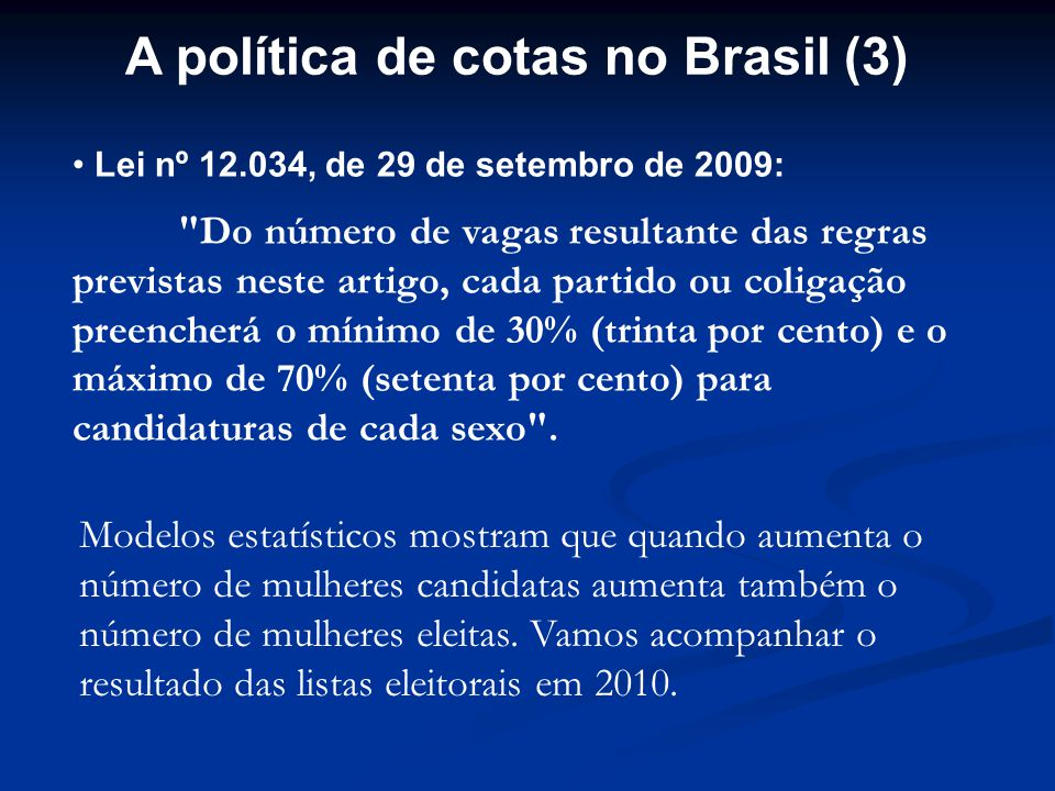 A política de cotas no Brasil (3)
