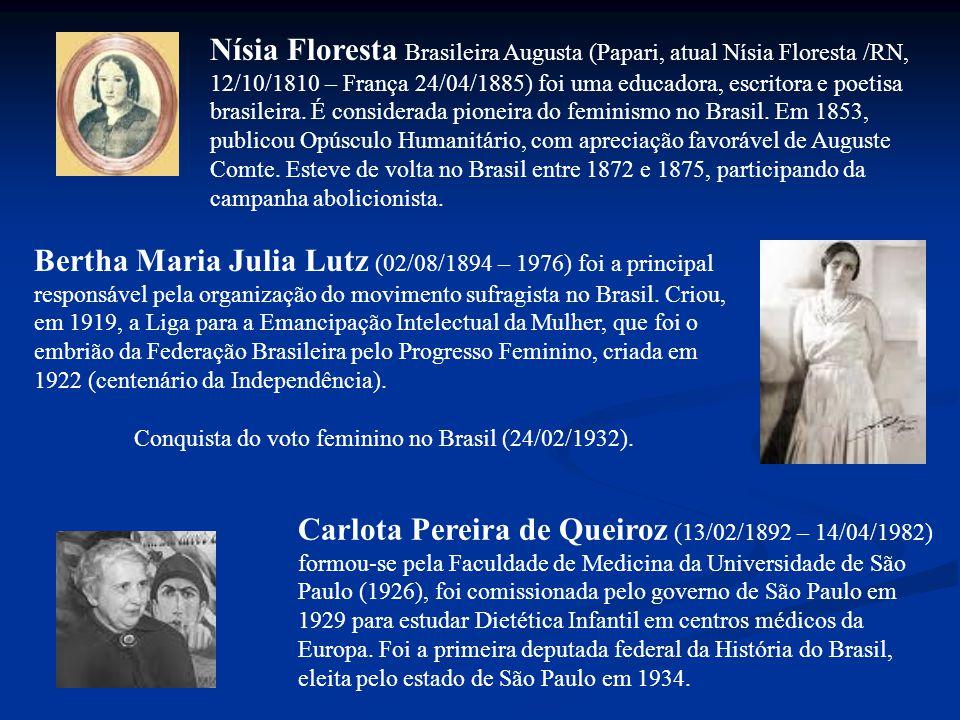 Conquista do voto feminino no Brasil (24/02/1932).