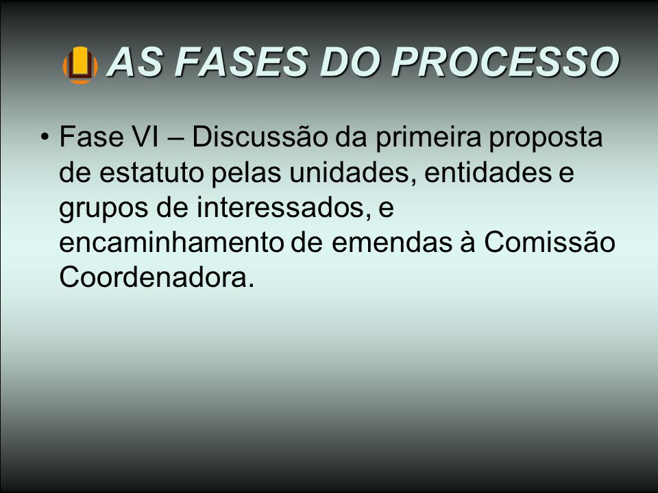 AS FASES DO PROCESSO