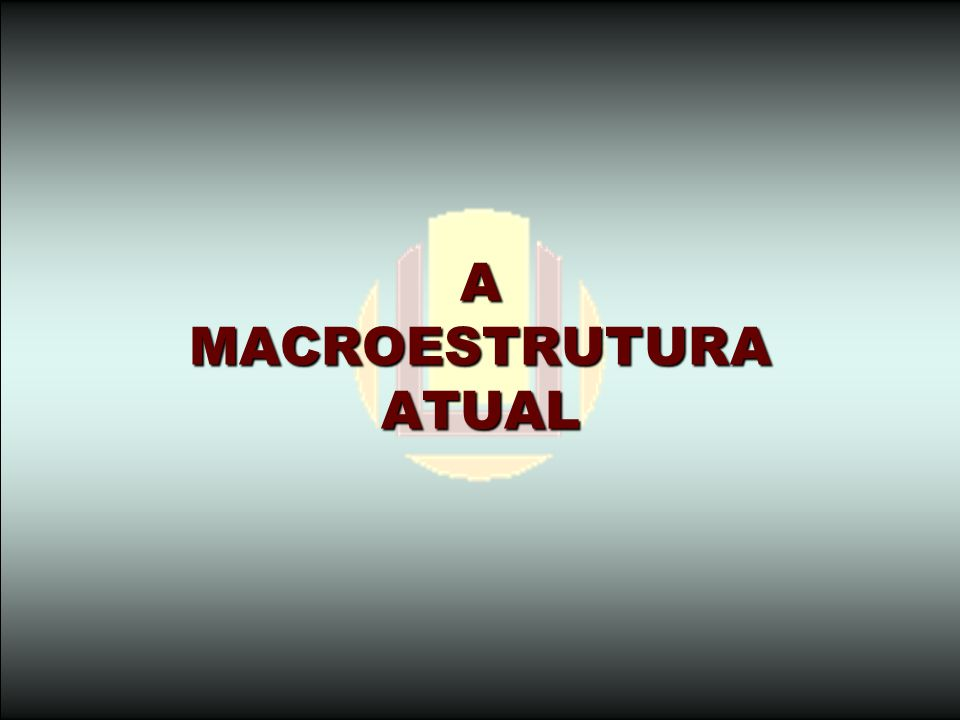 A MACROESTRUTURA ATUAL