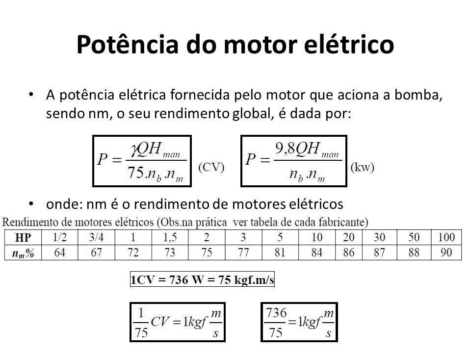 Potência do motor elétrico