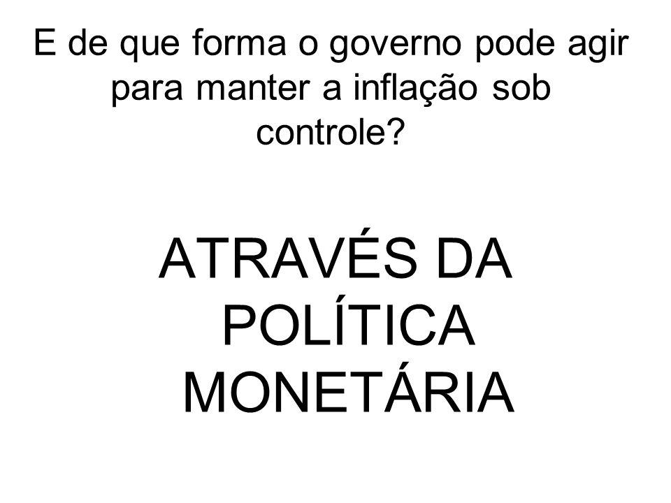 ATRAVÉS DA POLÍTICA MONETÁRIA