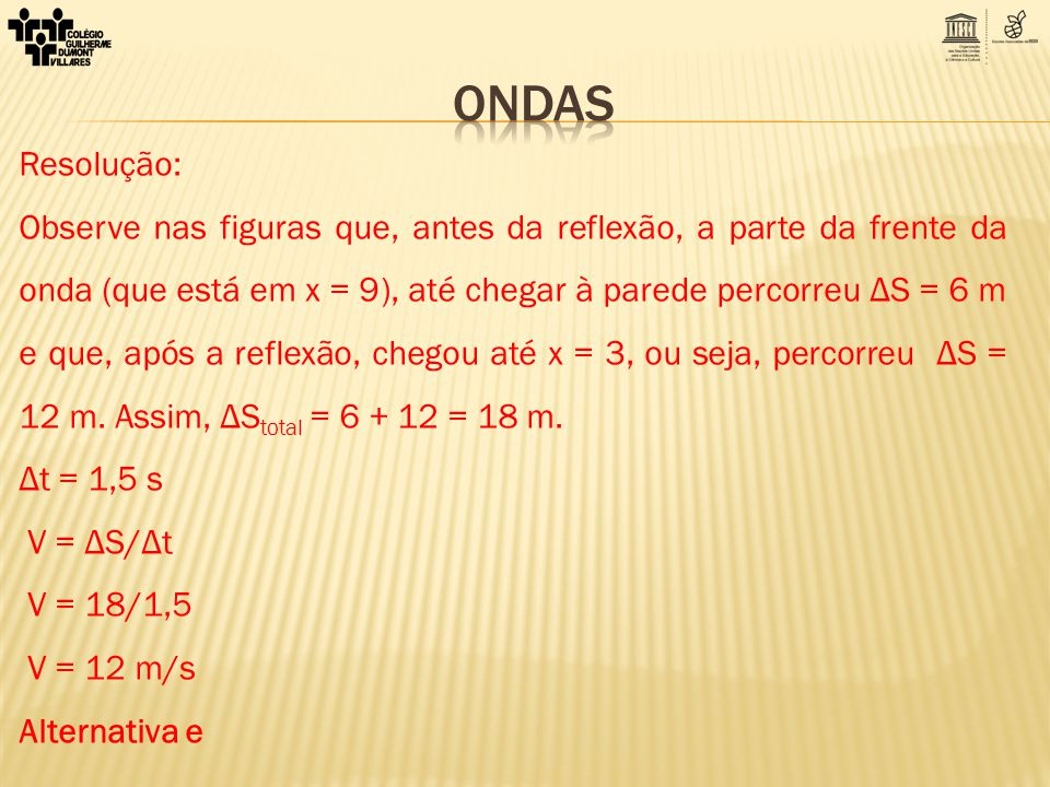 ONDAS Resolução: