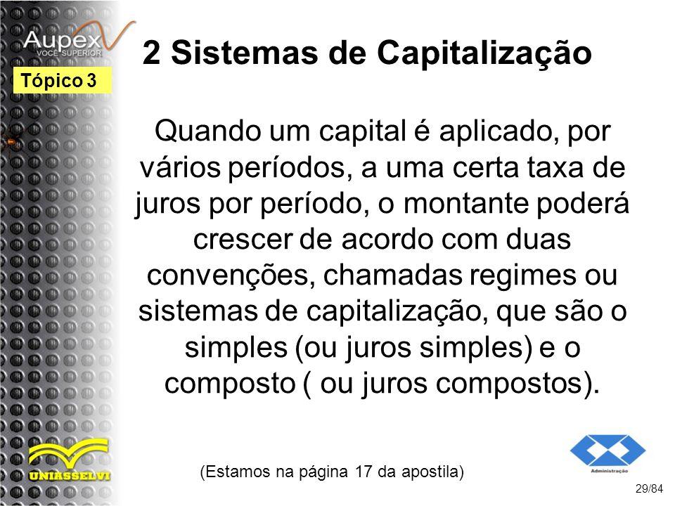 2 Sistemas de Capitalização