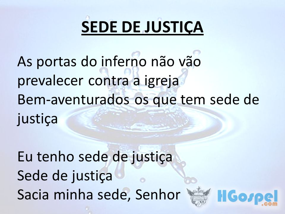 SEDE DE JUSTIÇA