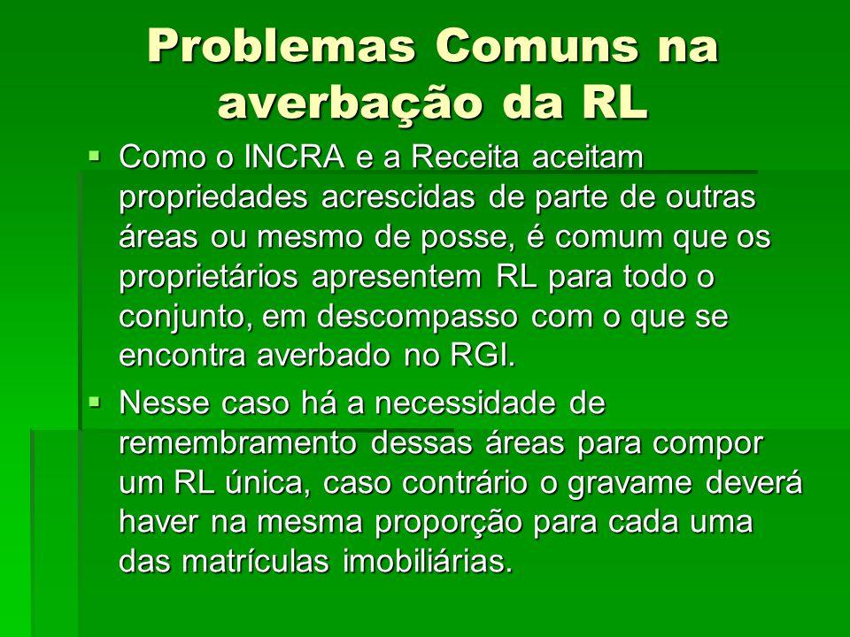 Problemas Comuns na averbação da RL