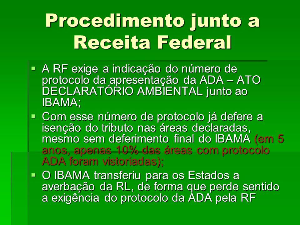Procedimento junto a Receita Federal