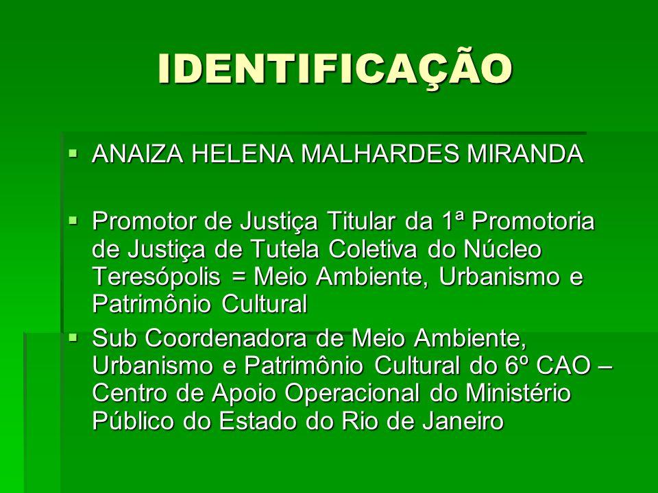 IDENTIFICAÇÃO ANAIZA HELENA MALHARDES MIRANDA