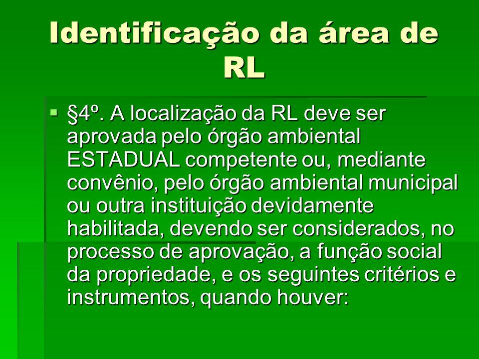 Identificação da área de RL