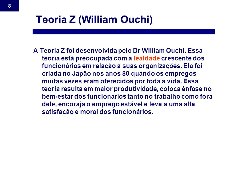 Teoria Z (William Ouchi)