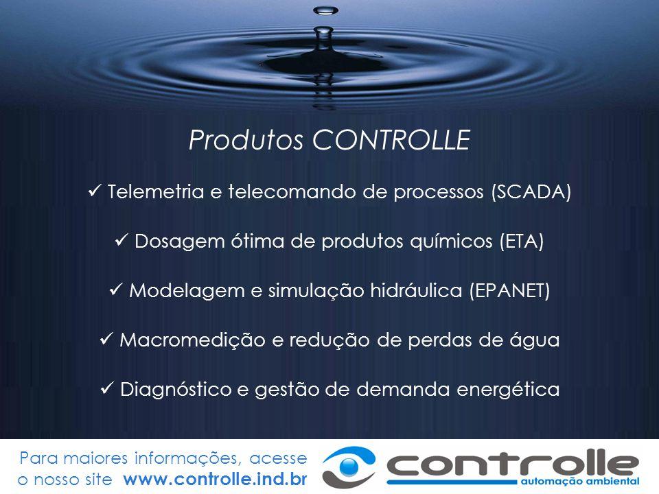 Produtos CONTROLLE Telemetria e telecomando de processos (SCADA)