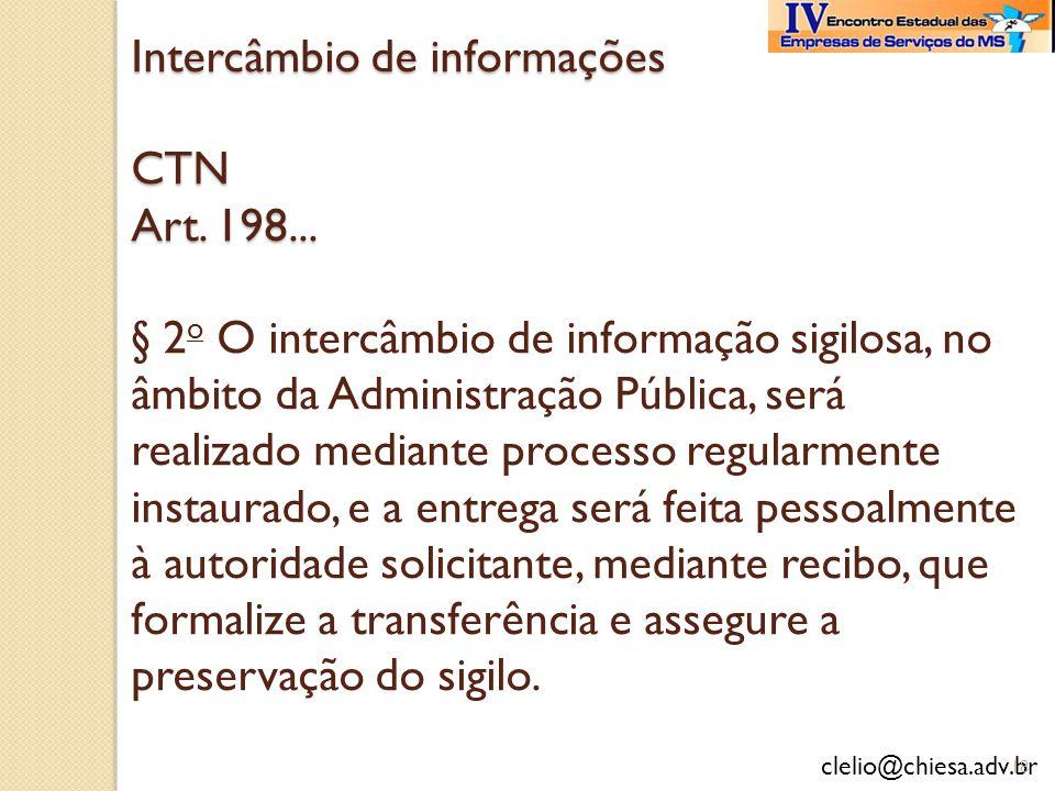 Intercâmbio de informações CTN Art. 198