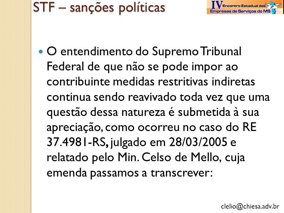 STF – sanções políticas