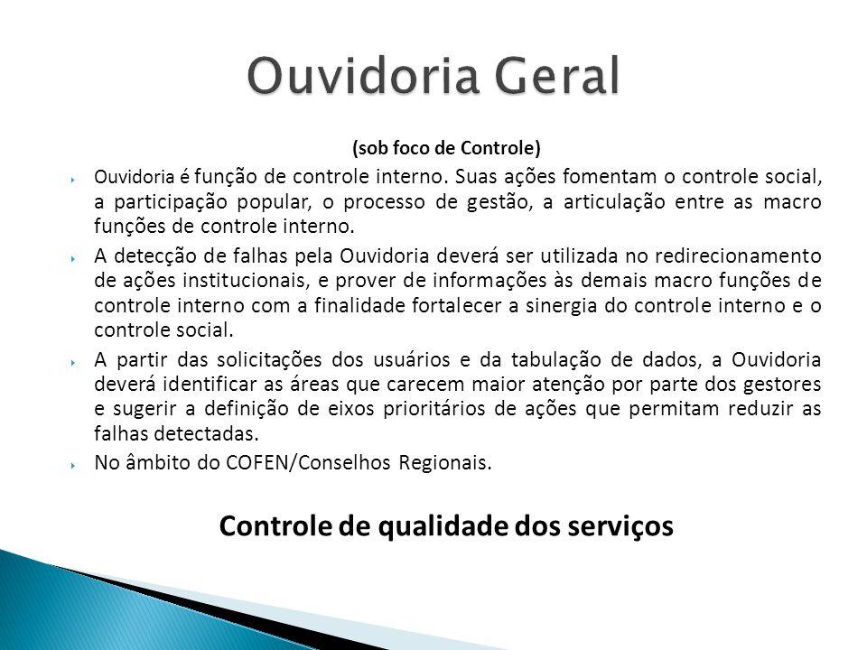 Controle de qualidade dos serviços