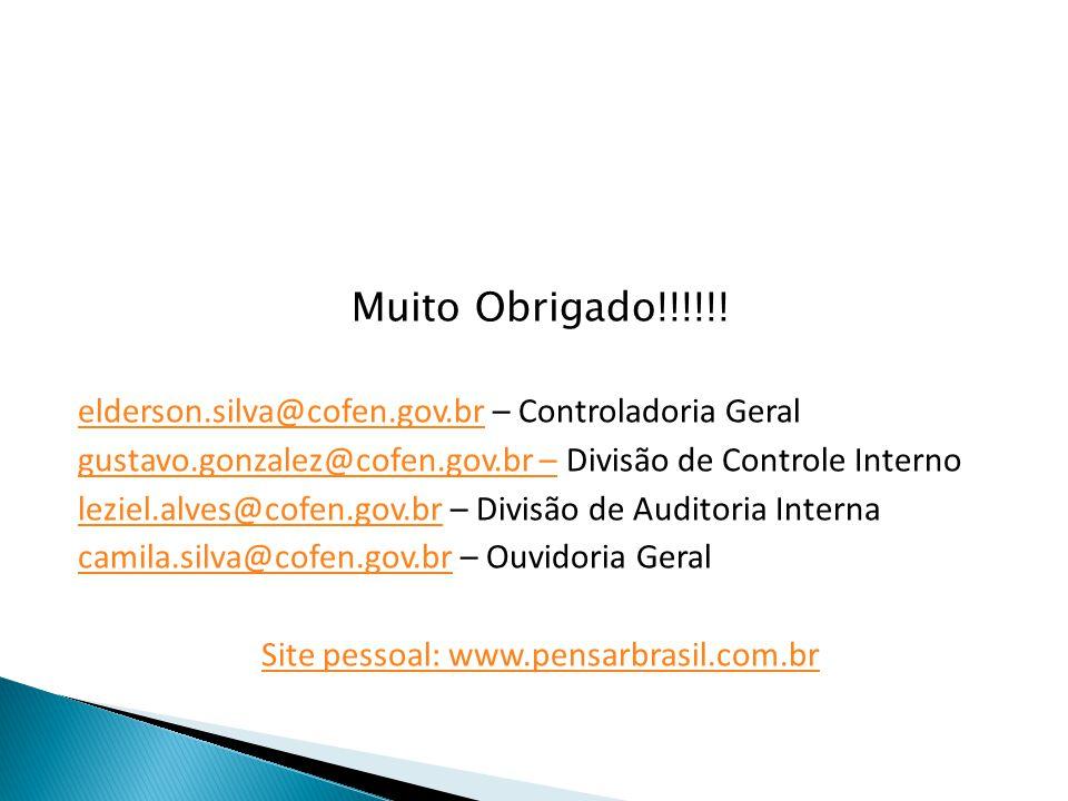Site pessoal: www.pensarbrasil.com.br