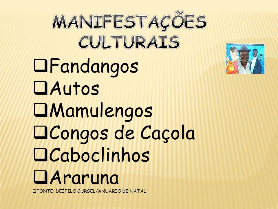 MANIFESTAÇÕES CULTURAIS
