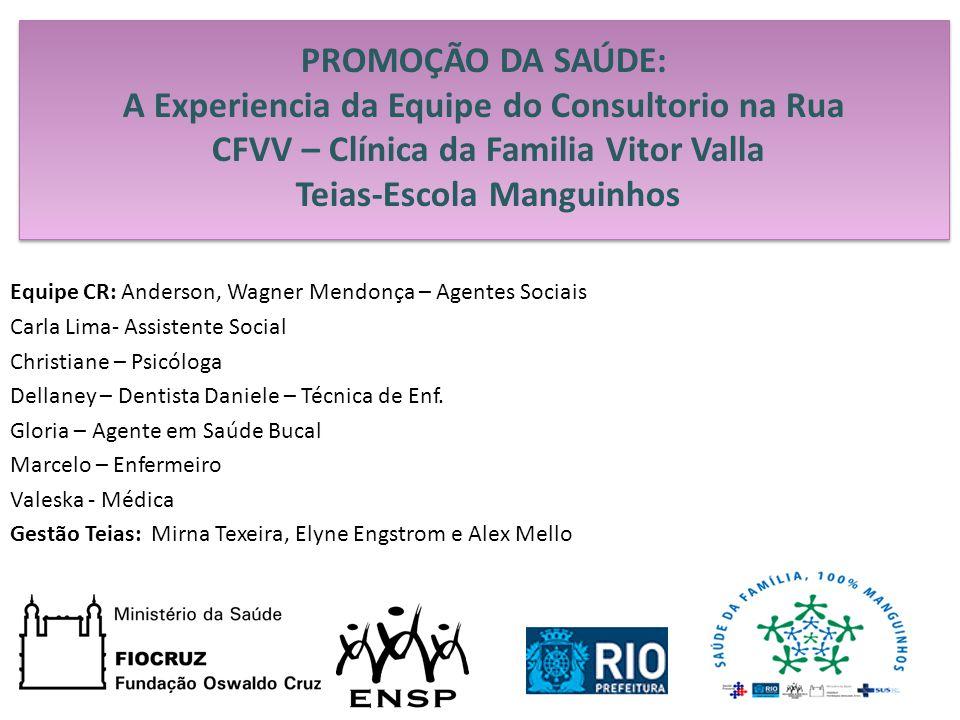 PROMOÇÃO DA SAÚDE: A Experiencia da Equipe do Consultorio na Rua CFVV – Clínica da Familia Vitor Valla Teias-Escola Manguinhos