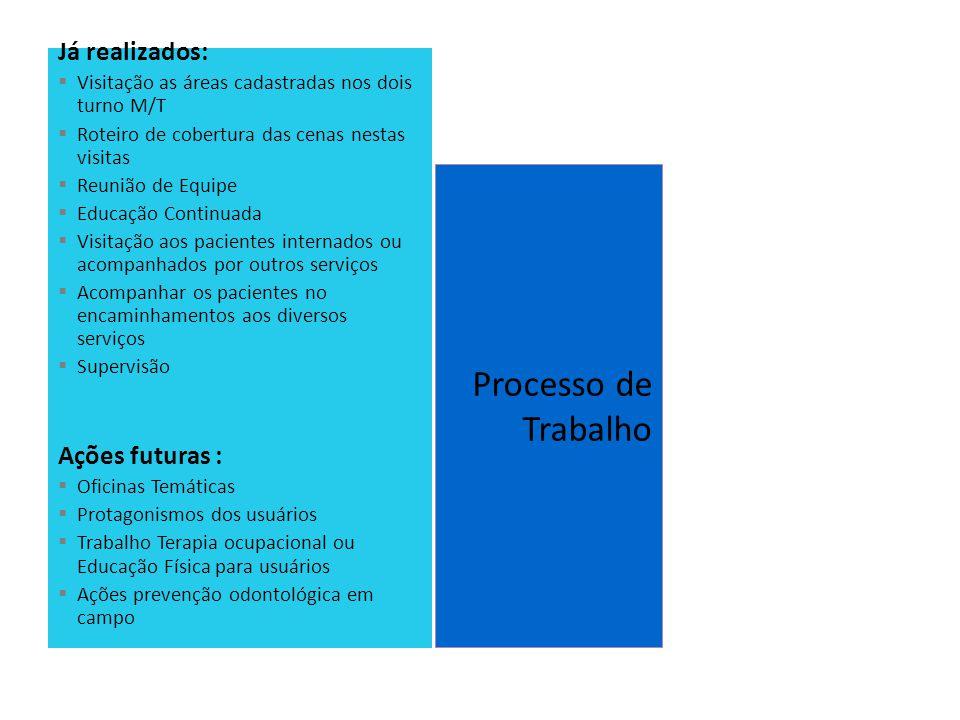 Processo de Trabalho Já realizados: Ações futuras :
