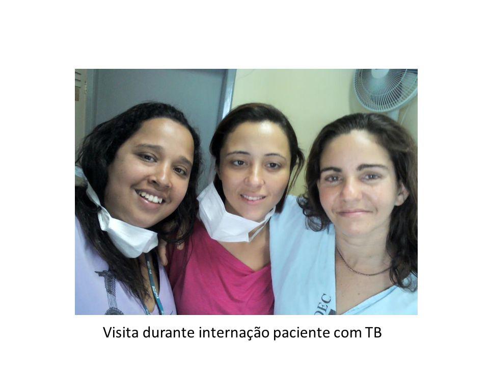 Visita durante internação paciente com TB