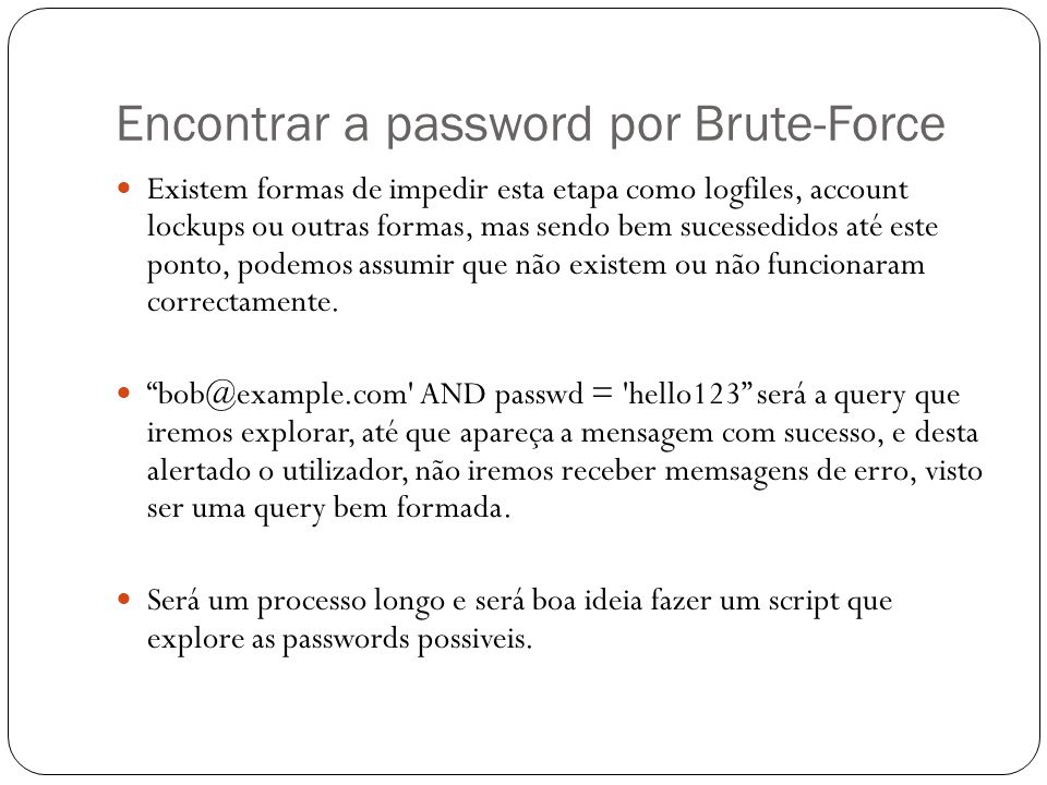 Encontrar a password por Brute-Force