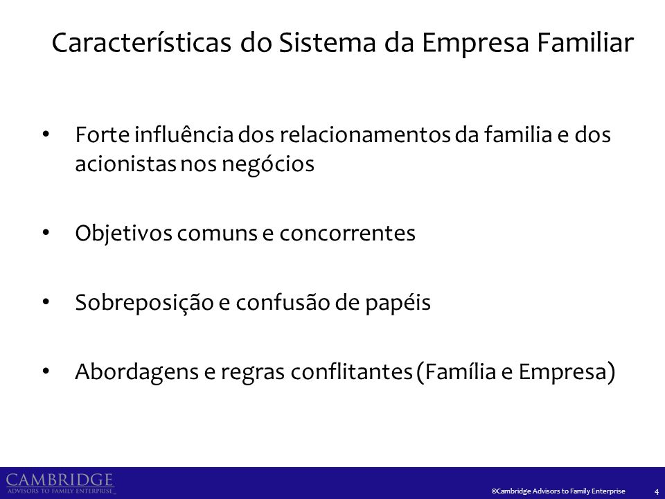 O Sistema da Empresa Familiar