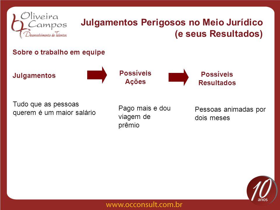 Julgamentos Perigosos no Meio Jurídico (e seus Resultados)