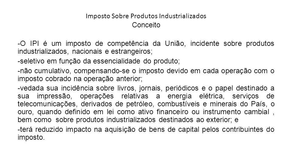 Imposto Sobre Produtos Industrializados Conceito