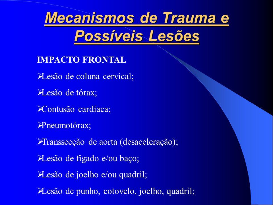 Mecanismos de Trauma e Possíveis Lesões