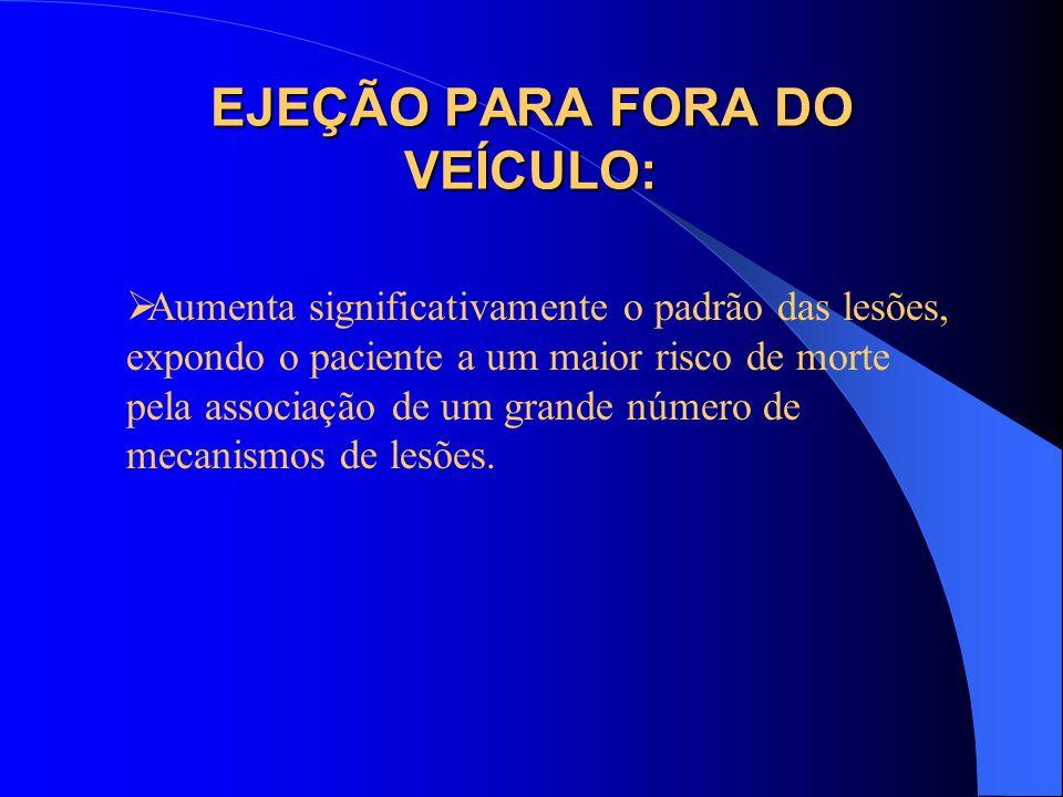 EJEÇÃO PARA FORA DO VEÍCULO: